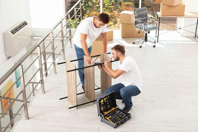 Disassembly and assembly by professional movers